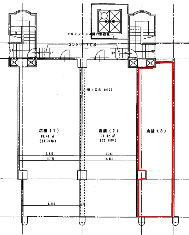 レクコーポ常盤平_1F店舗平面図