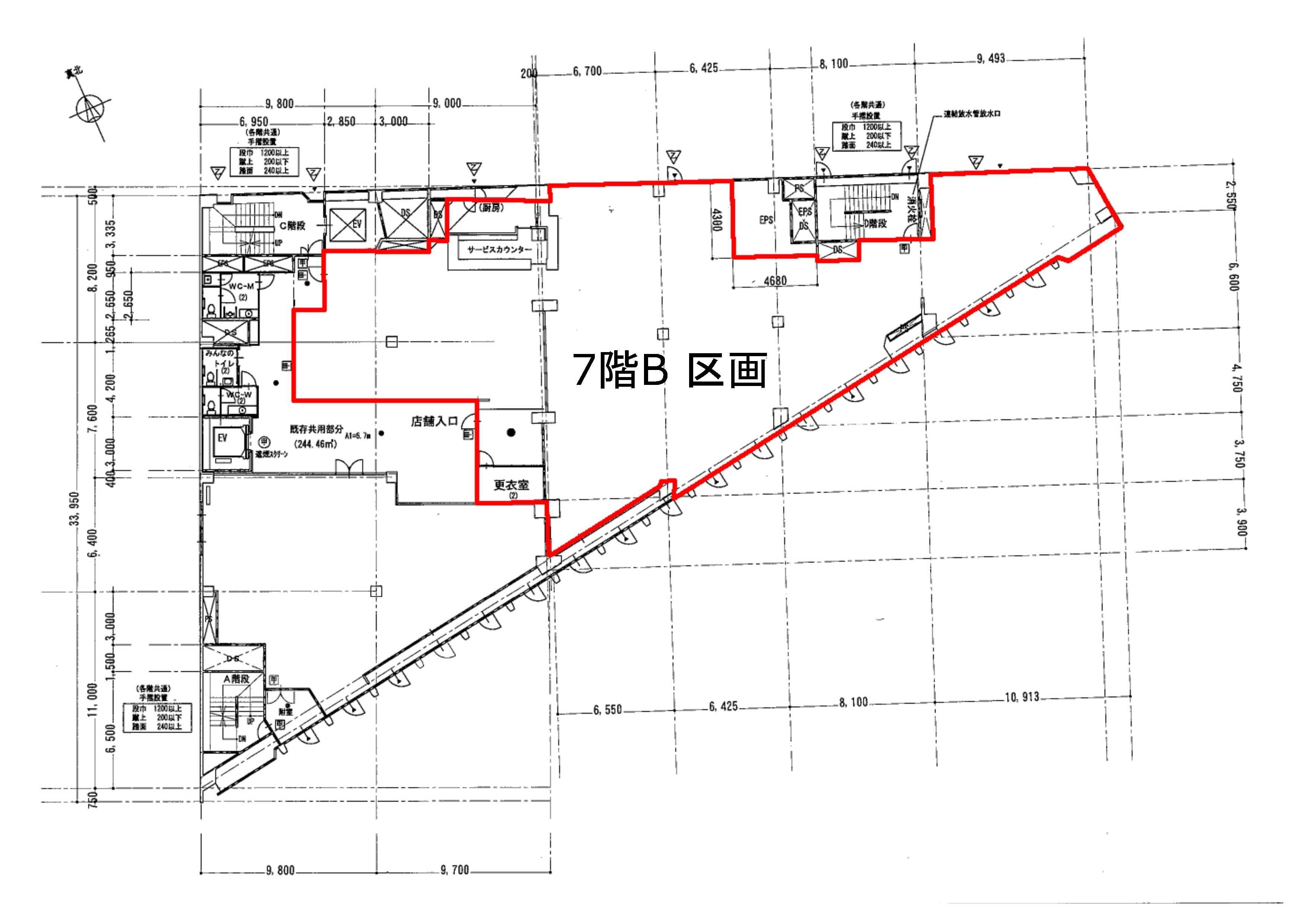 本厚木駅前ビル_7FB平面図